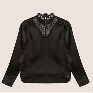 A X Armani Exchange Black Blouse